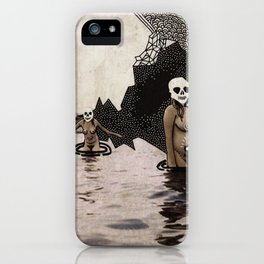 swimmers in dangerous waters iPhone Case