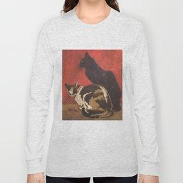 """Théophile Steinlen """"Cats, 1910"""" Long Sleeve T-shirt"""