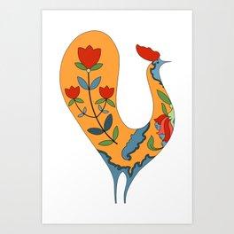 Bird and Flowers Art Print