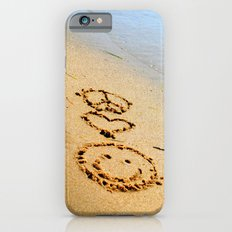Peace Love and Happiness Slim Case iPhone 6