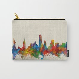 new york skyline watercolor 2 Carry-All Pouch