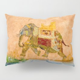 "Decorated Elephant Wall from ""Life of Pi"" Movie Pillow Sham"