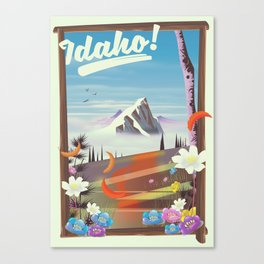 Idaho! landscape travel poster Canvas Print