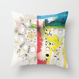 un orgasmo al oído Throw Pillow
