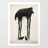 silhouette Art Prints featuring Standing Tall by Dan Burgess