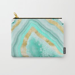 Agate Gold Foil Glam #2 #gem #decor #art #society6 Carry-All Pouch
