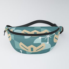 Atomic Era Funky Flowers (Turquoise) Fanny Pack