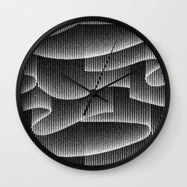 Aurora Borealis_Black and White Wall Clock