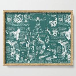 Da Vinci's Anatomy Sketchbook // Genoa Green Serving Tray