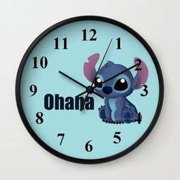Chibi Stitch Wall Clock