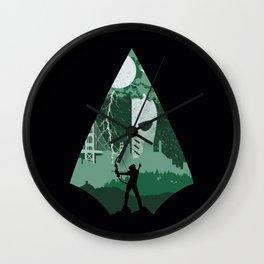 Arrow green Wall Clock