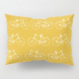 Saffron-Yellow Vintage Bicycle Pattern Pillow Sham