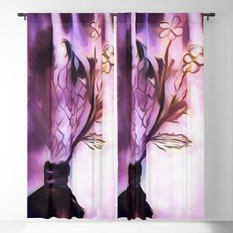Flowering Inkwell Blackout Curtain