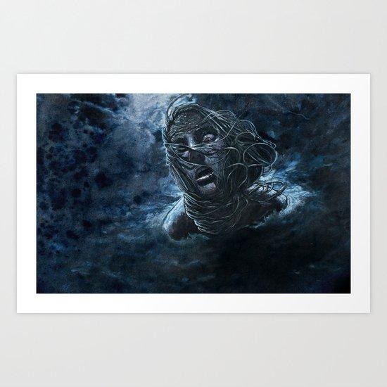 Open Water Horror Art Print
