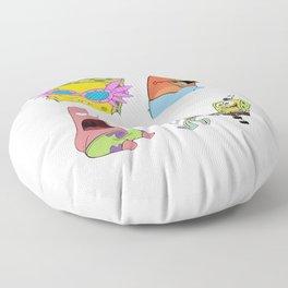spongebob stiker pack Floor Pillow