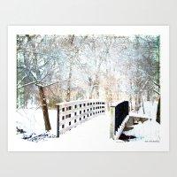 Snowy Winter Trail Art Print