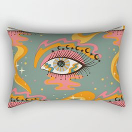 Cosmic Eye Retro 70s, 60s inspired psychedelic Rectangular Pillow