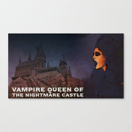 Vampire Queen of the Midnight Castle Canvas Print