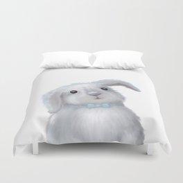 White Rabbit Boy isolated Duvet Cover