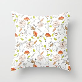 Spring blooming pattern Throw Pillow