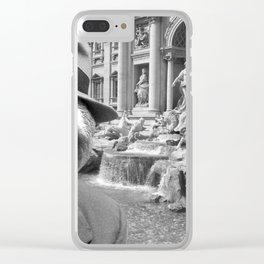 Sloth in Rome in front of Trevi Fountain Clear iPhone Case