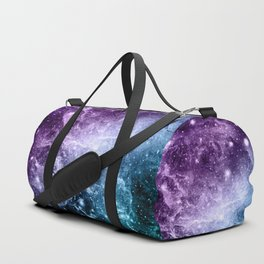 Purple Teal Galaxy Nebula Dream #4 #decor #art #society6 Duffle Bag
