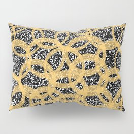 Abstract Beehive Yellow & Black Pattern Pillow Sham