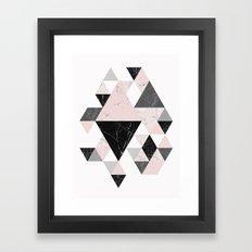 Triangle pattern modern geometric abstract ll Framed Art Print