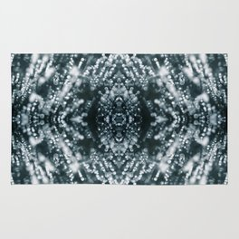 Beautiful Silver sparkles Frozen Ice bubbles Mandala Rug