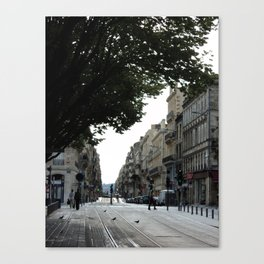 Bordeaux tram tracks Canvas Print