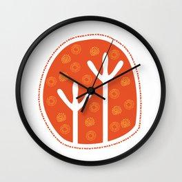 Emu Tracks Australian Aboriginal Style 1 Wall Clock