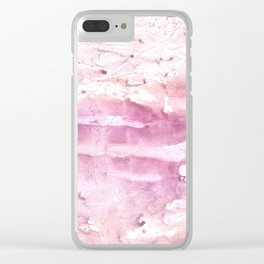 Misty rose cloud Clear iPhone Case