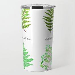fern collection watercolor Travel Mug