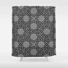Entwined graphic Lines Home Design - grey Shower Curtain