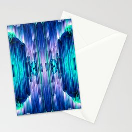 Cavernous Glitch - Abstract Pixel Art Stationery Cards