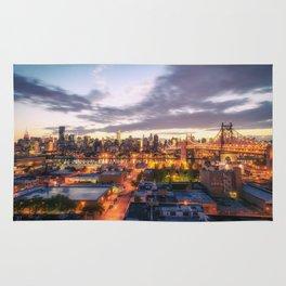 New York City Skyline - Evening Rug