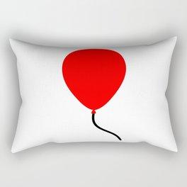 Red Balloon Emoji Rectangular Pillow