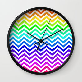 Raibow pattern lines Wall Clock