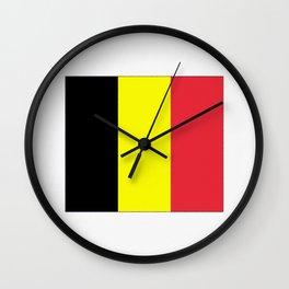 Flag of belgium-belgian,belge,belgique,bruxelles,Tintin,Simenon,Europe,Charleroi,Anvers,Maeterlinck Wall Clock
