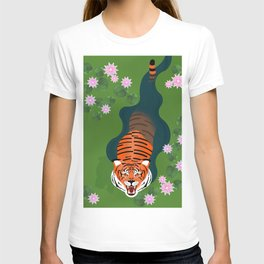 Tiger, Pond and Lilies T-shirt