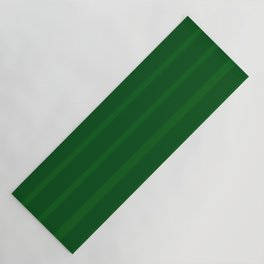 Emerald Green Soft Brush Stripes Yoga Mat