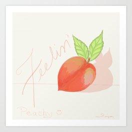 Feeling peachy Art Print