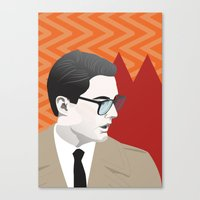 dale cooper Canvas Prints featuring Dale Cooper by Nicky Phillips