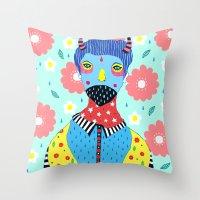 kpop Throw Pillows featuring Make Me Colourful by Saif Chowdhury