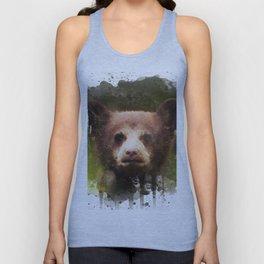 Bear Cub - Watercolor Unisex Tank Top