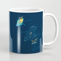 blueprint Mugs featuring Blueprint Waka-Waka by Manny Peters Art & Design