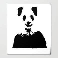 Pandas Blend into White Backgrounds Canvas Print