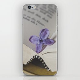 Lilac Bookmark iPhone Skin