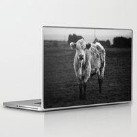 furry Laptop & iPad Skins featuring Furry Cow by LiBi Art & Design
