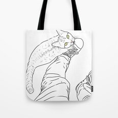 Everything I know I learned from my cat Tote Bag